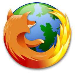 recreated Firefox logo, modified with green-coloured land instead of dark blue