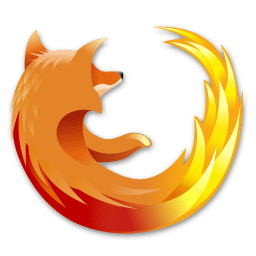 recreated Firefox logo, modified with no planet at all
