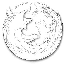 recreated Firefox logo, modified showing only the outlines
