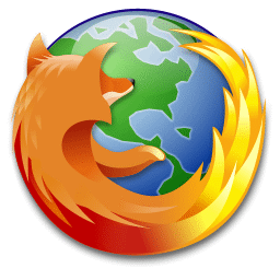 recreated Firefox logo, modified with a different planet which looks more like Earth