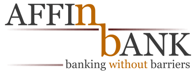 Affin Bank logo entry, with the motto 'Banking Without Barriers', for the Banking Without Barriers Logo Contest