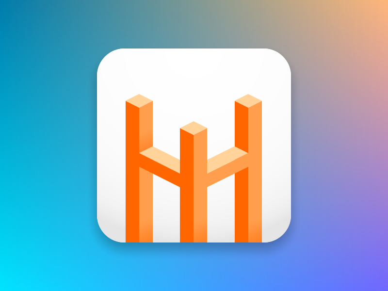 HackerWeb logo, inspired by Monument Valley game