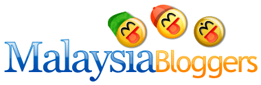 the 'Malaysia Bloggers' logo designed, refined and rendered in its full glory
