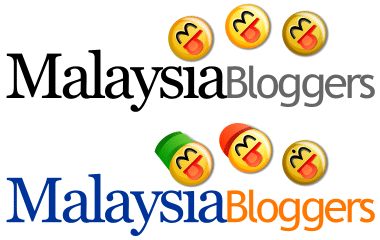 two 'Malaysia Bloggers' logos, one is quite plain, the other is further improved with more colours on the text and decorations on the smileys