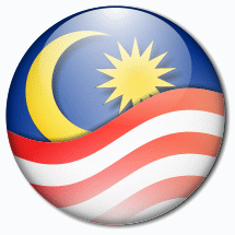 Malaysia flag logo, wrapped up into a glassy ball