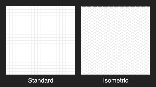 Standard and isometric grids