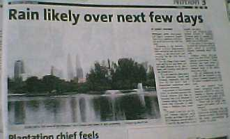 article by Audrey Edwards titled 'Rain likely over next few days' of The Star newspaper