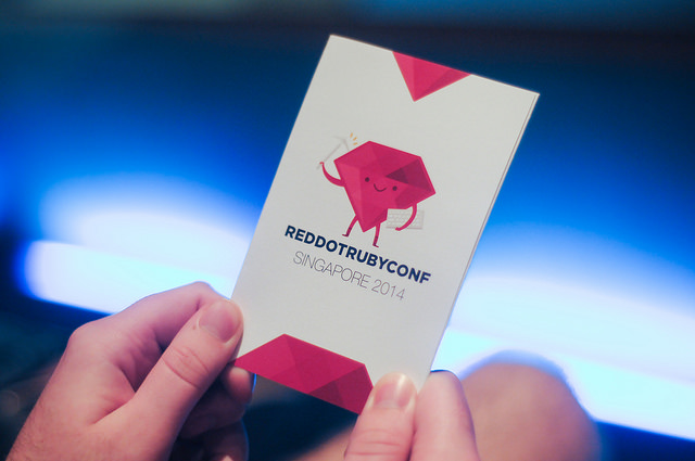 RedDotRubyConf 2014 booklet with a logo
