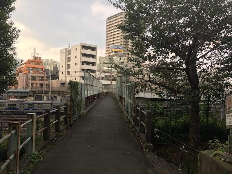 A bridge near Yanaka Cemetery and Nippori Station in Tokyo