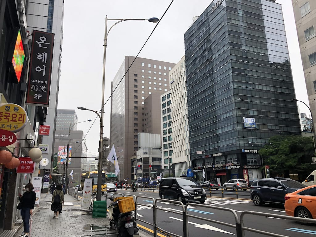 Buildings, roads and perfect weather in Seoul, South Korea