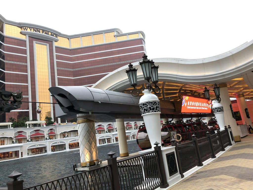 Cable car entrance at Wynn Palace Cotai in Macau