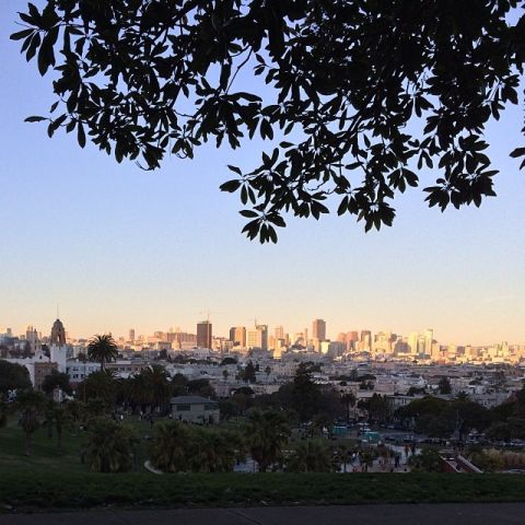 View of San Francisco from Dolores Park