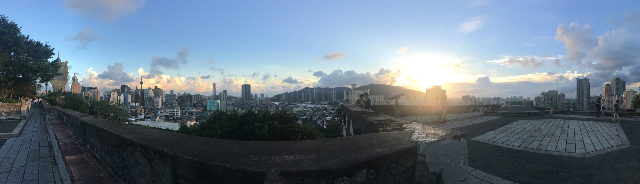 Scenery of Macau from Fortaleza do Monte