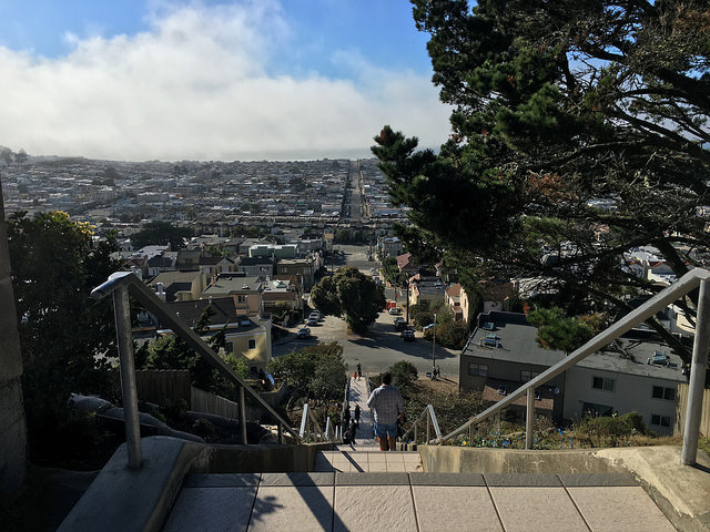 View from Golden Gate Heights in San Francisco