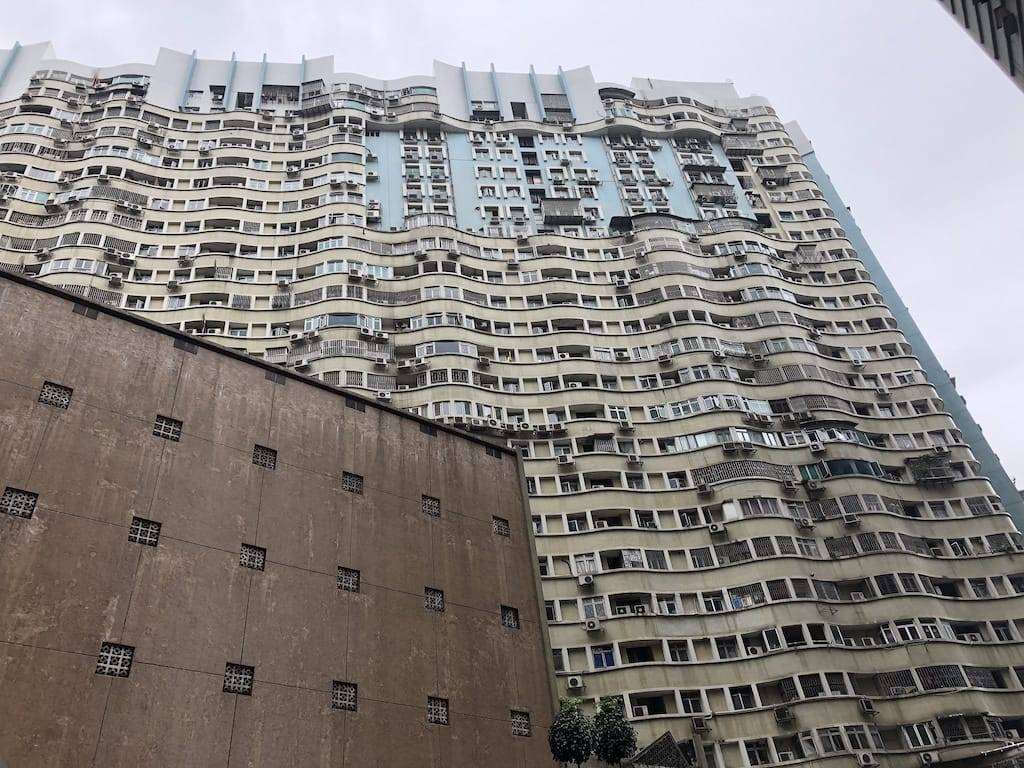 Wavy buildings in Macau