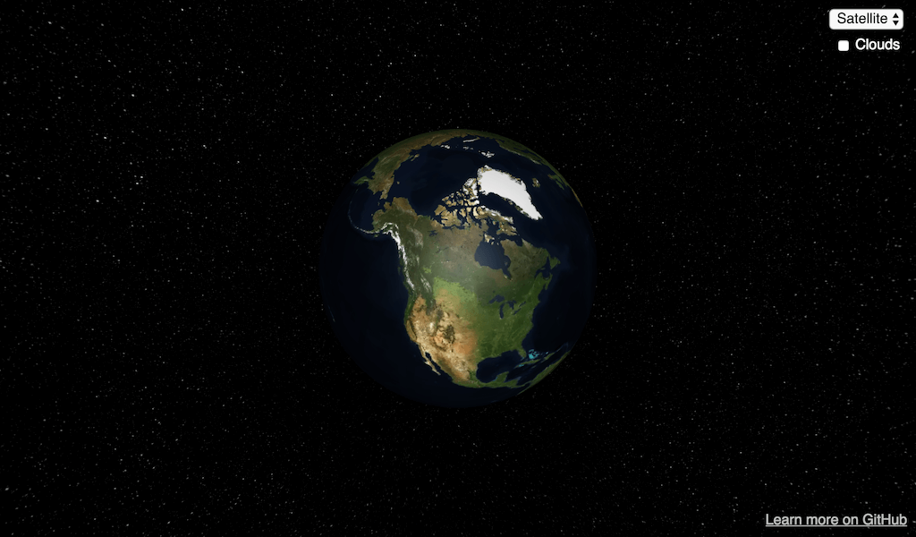 3D earth web site