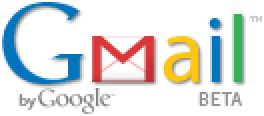 Gmail logo displayed on Gmail web site, resized 200% larger