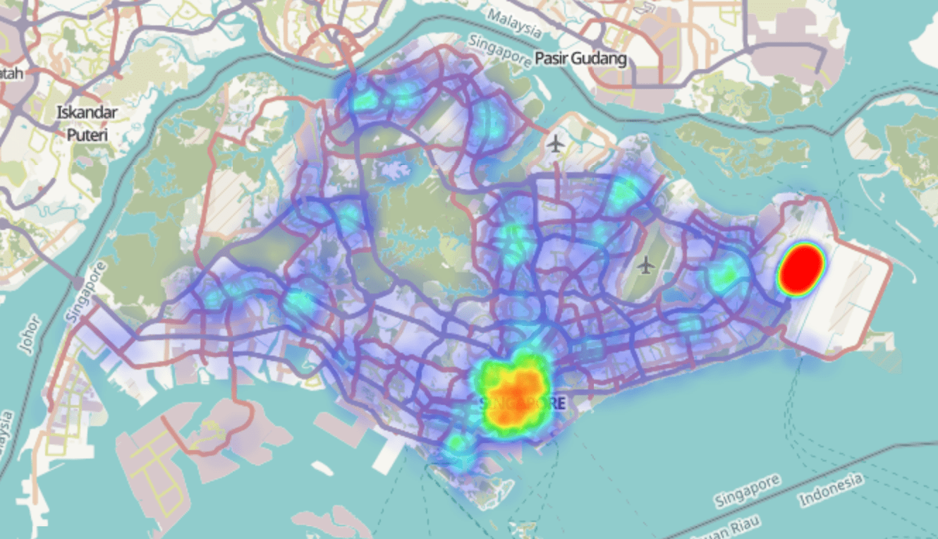 Joseph Tang's taxi heat map