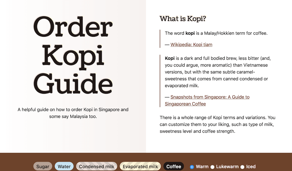 Kopi.Guide web site