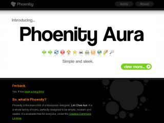 Phoenity web site, redesigned