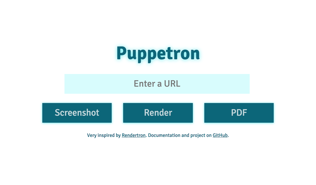 Puppetron web site