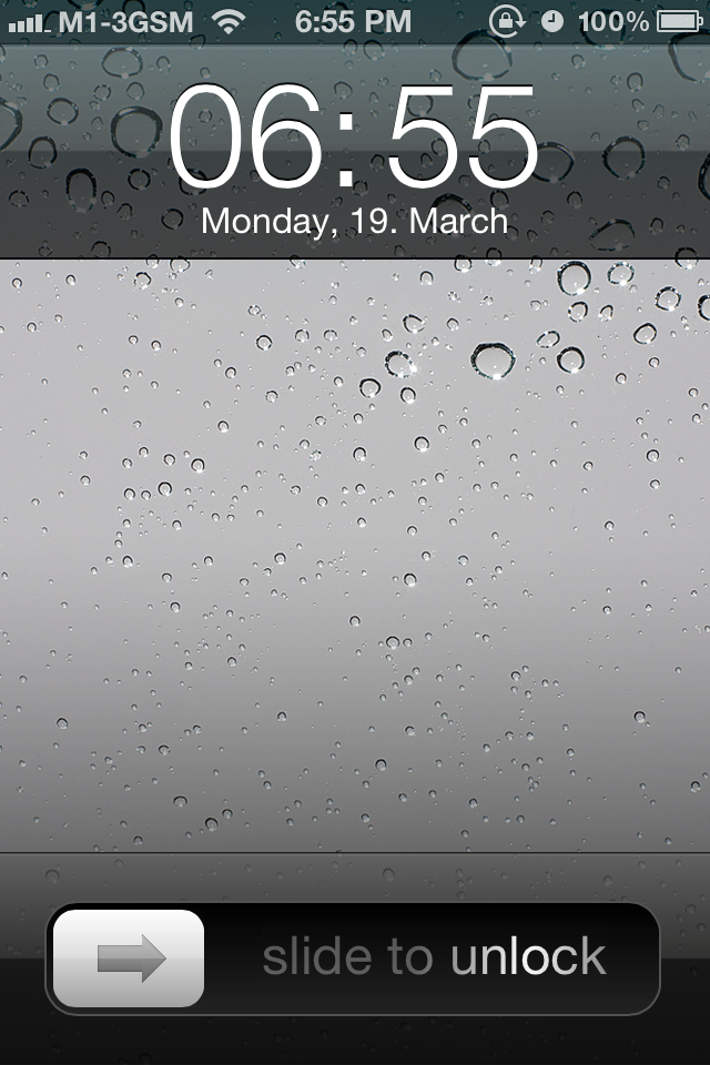 Thought the ios 7 lockscreen looked familiar so i put for Wallpaper for iphone 3gs home screen