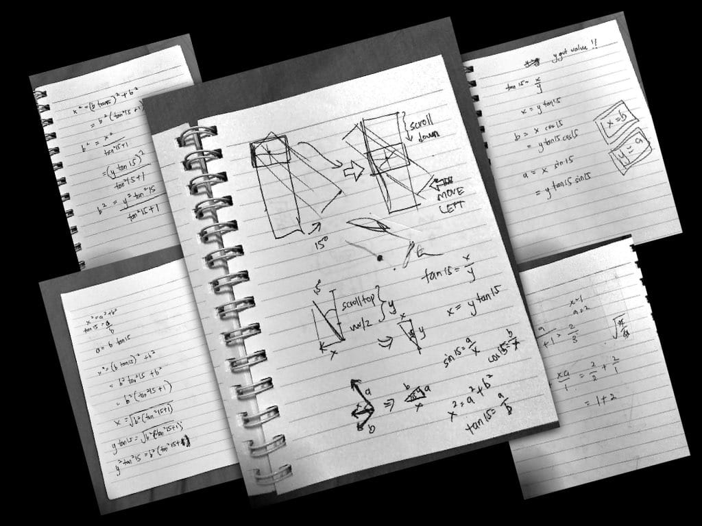 Photos of my sketches and math